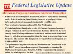 federal legislative update108