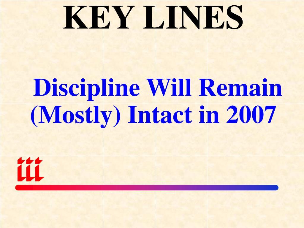KEY LINES