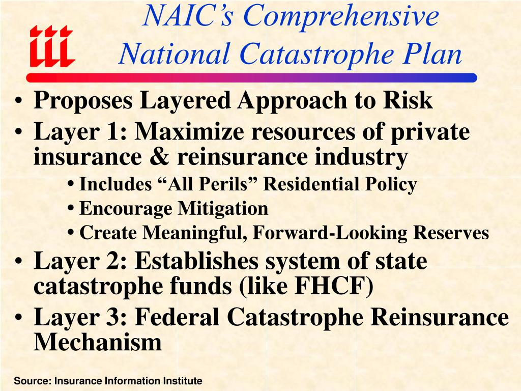 NAIC's Comprehensive National Catastrophe Plan