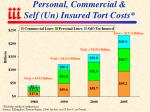 personal commercial self un insured tort costs