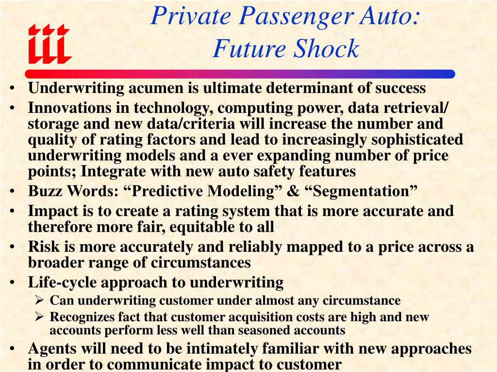 Private Passenger Auto: