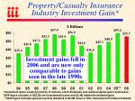 property casualty insurance industry investment gain