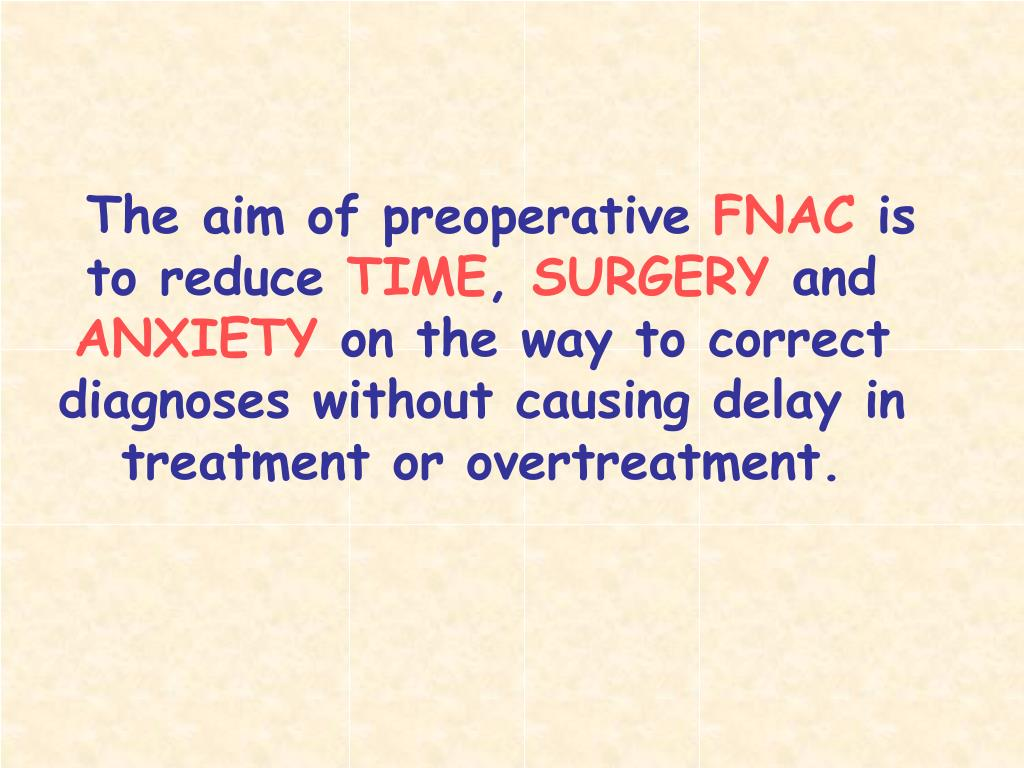 The aim of preoperative