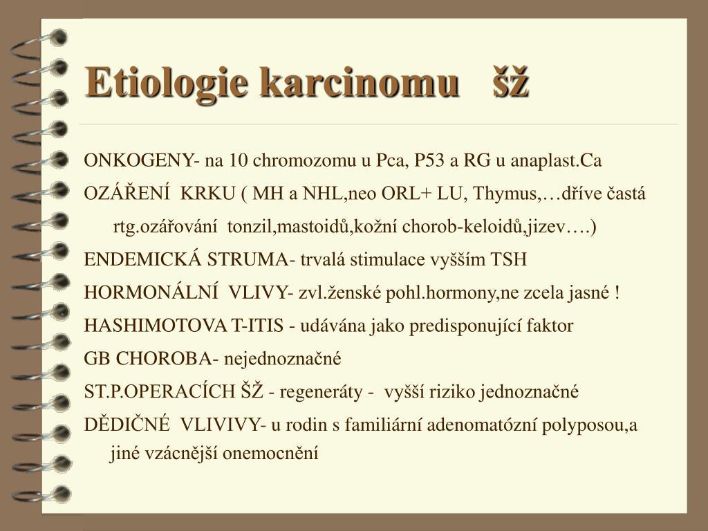 Etiologie karcinomu   šž
