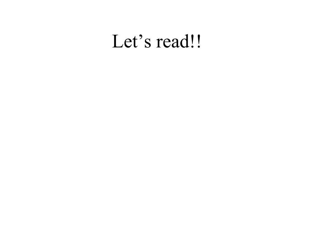 Let's read!!