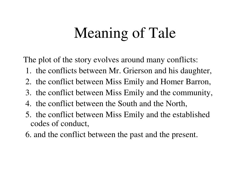 Meaning of Tale