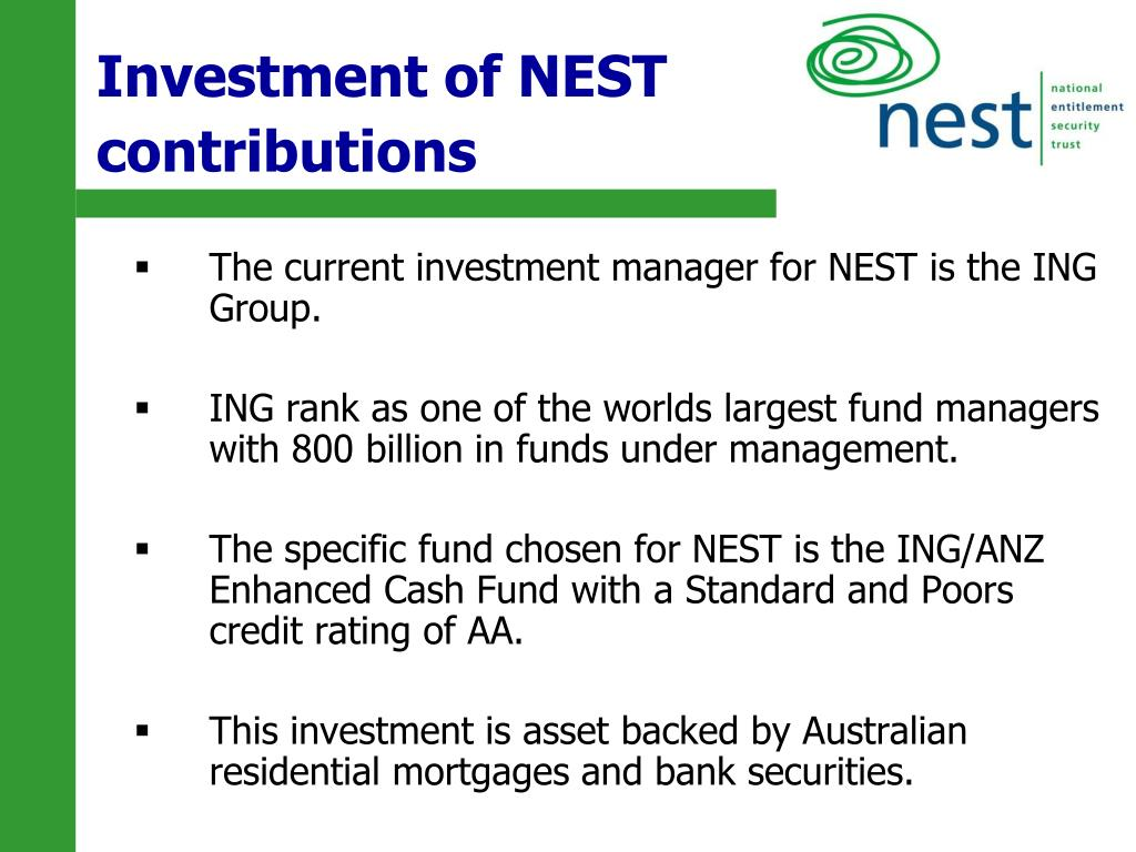 Investment of NEST