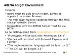 arena target environment