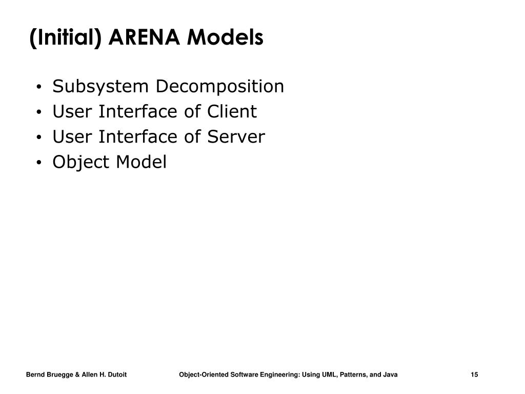 (Initial) ARENA Models