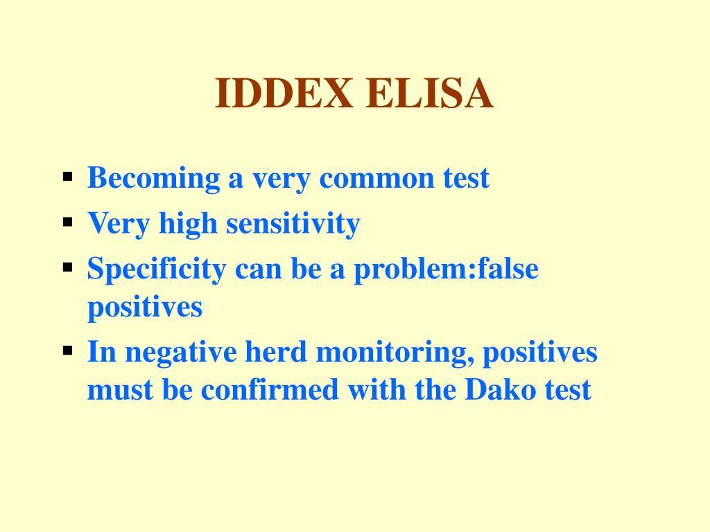 IDDEX ELISA