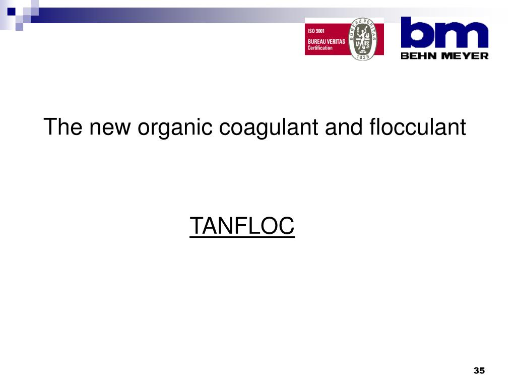 The new organic coagulant and flocculant
