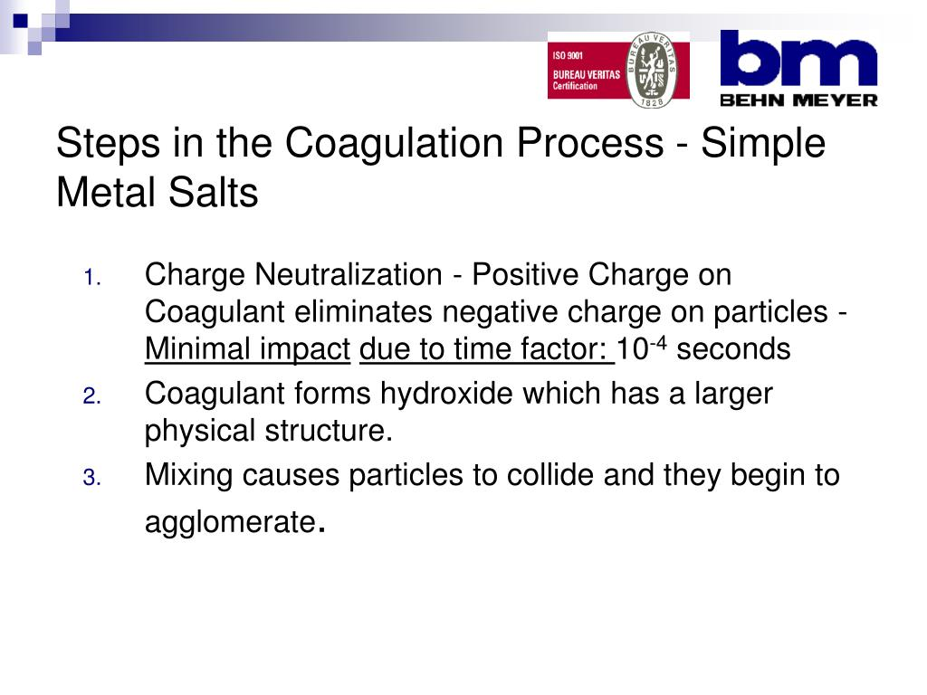 Steps in the Coagulation Process - Simple Metal Salts