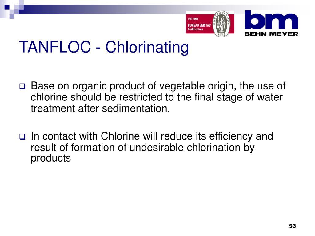TANFLOC - Chlorinating