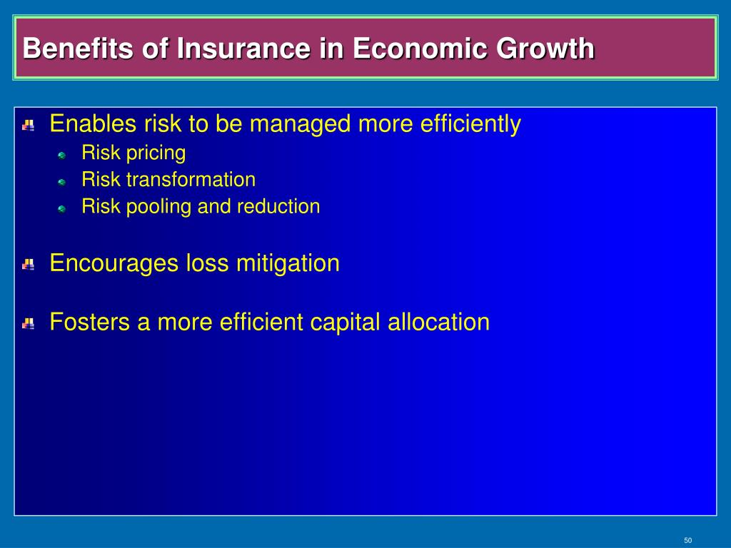 Benefits of Insurance in Economic Growth
