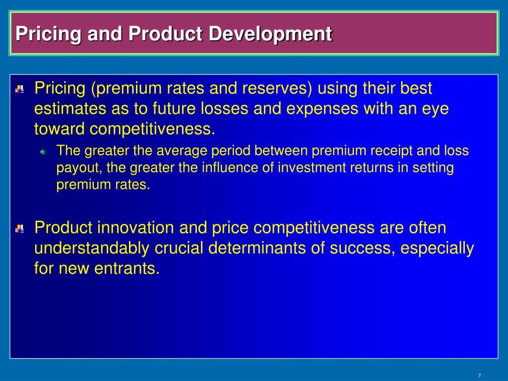 Pricing and Product Development