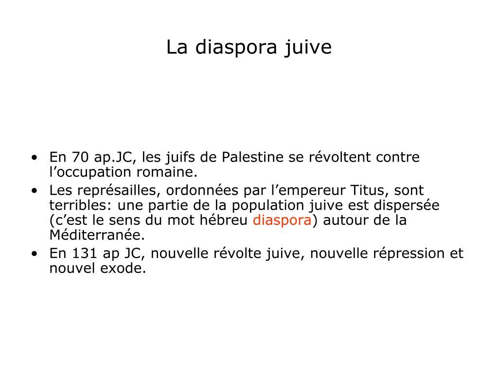 La diaspora juive
