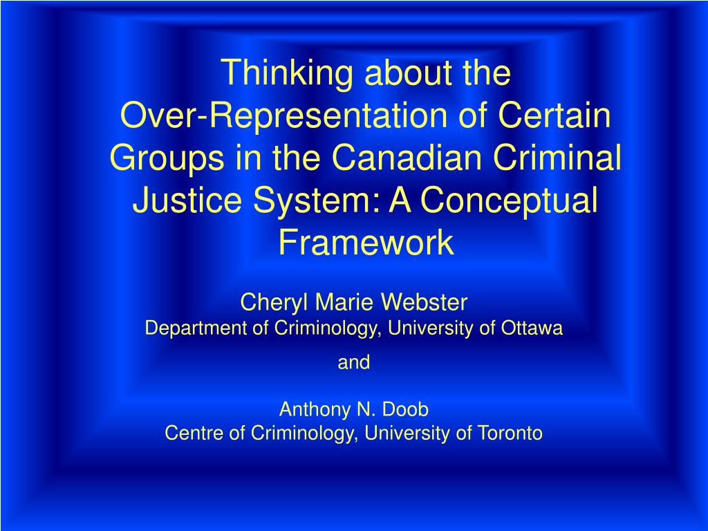 Discrimination in the criminal justice system essay
