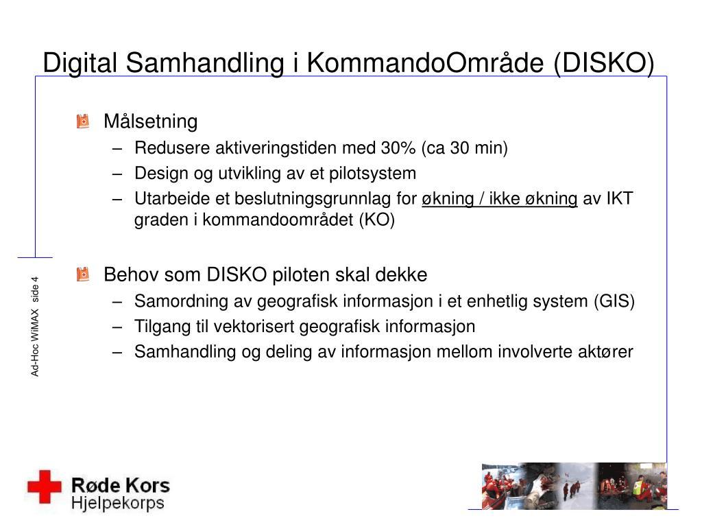 Digital Samhandling i KommandoOmråde (DISKO)