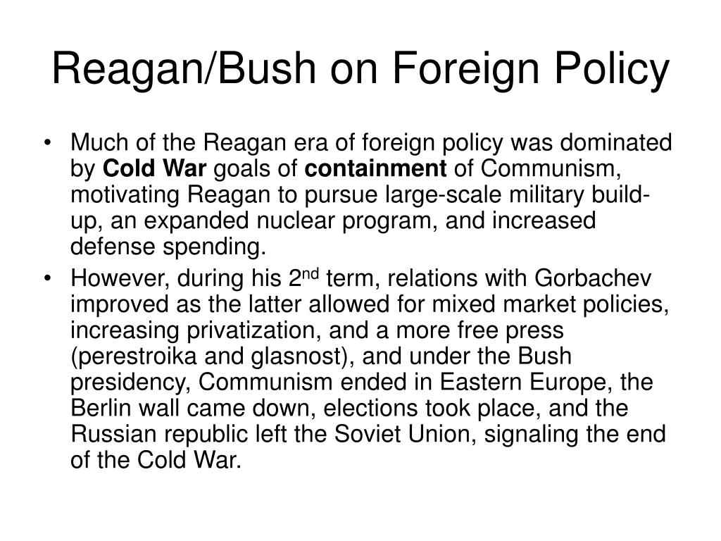 Reagan/Bush on Foreign Policy