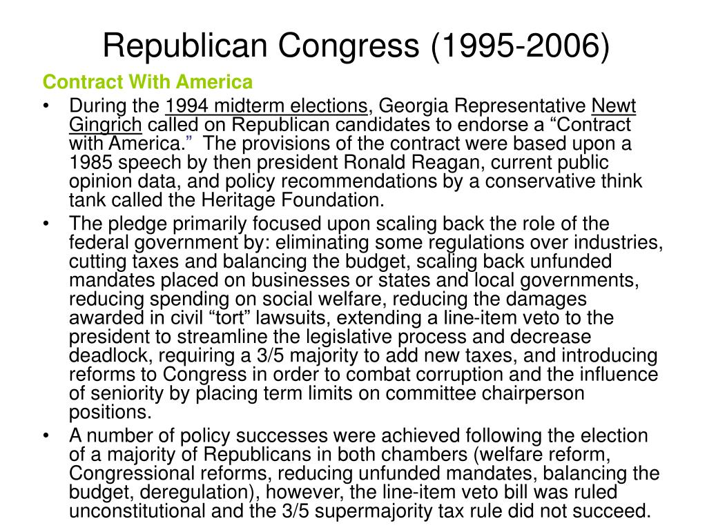 Republican Congress (1995-2006)
