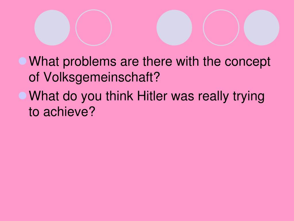 What problems are there with the concept of Volksgemeinschaft?