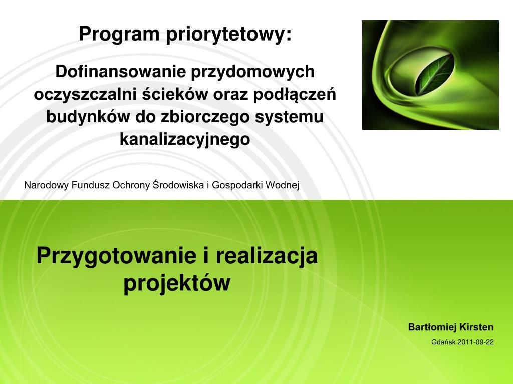 Program priorytetowy: