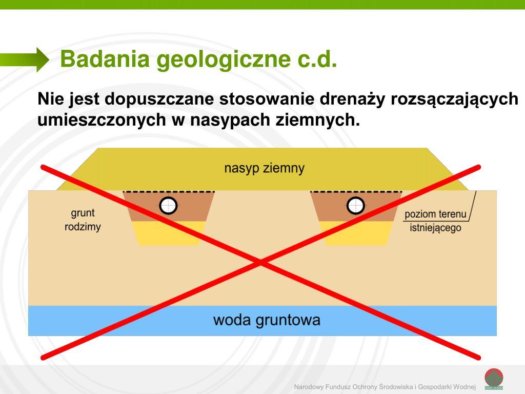 Badania geologiczne c.d.
