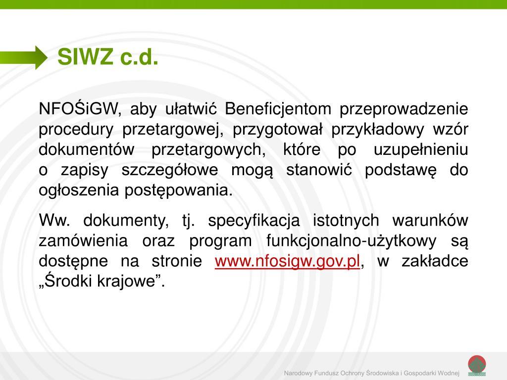 SIWZ c.d.