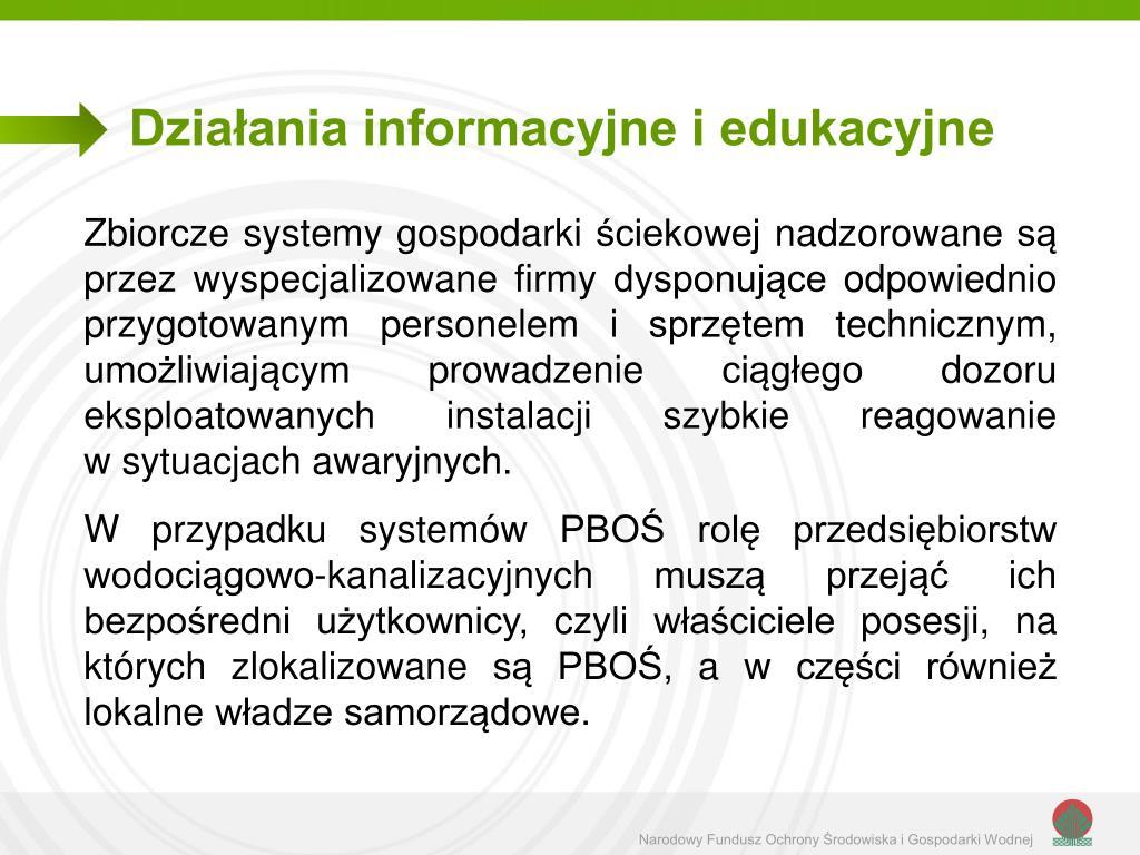 Działania informacyjne i edukacyjne