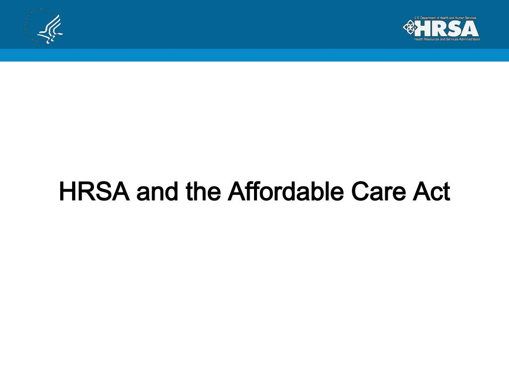 HRSA and the Affordable Care Act