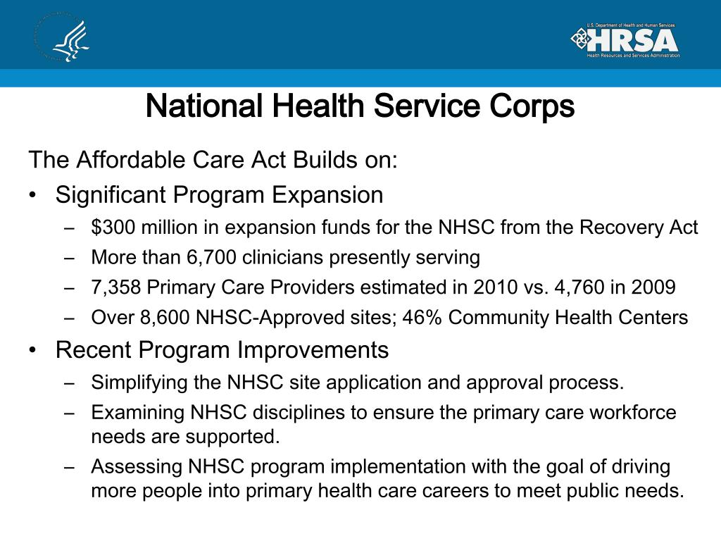 National Health Service Corps
