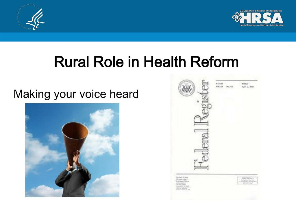 Rural Role in Health Reform