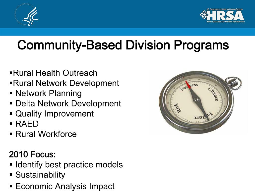 Community-Based Division Programs