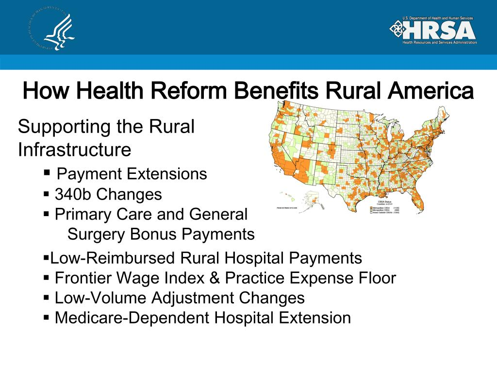 How Health Reform Benefits Rural America
