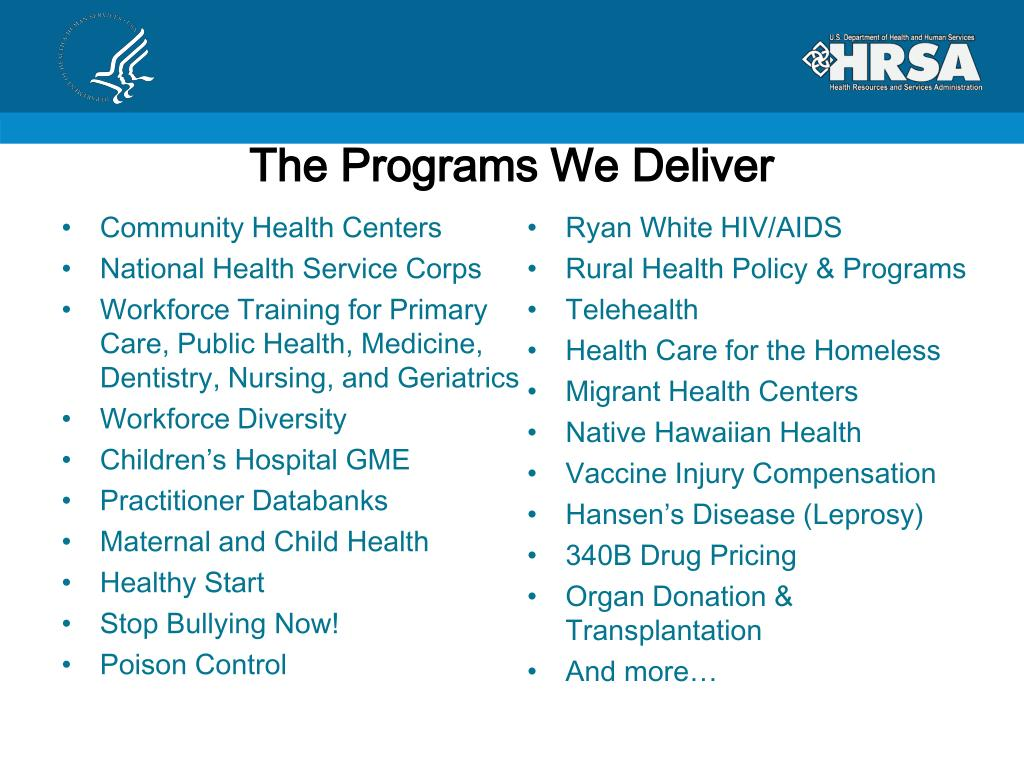 The Programs We Deliver
