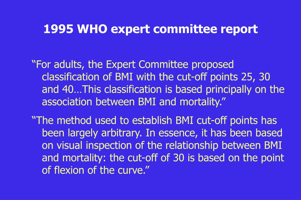 1995 WHO expert committee report