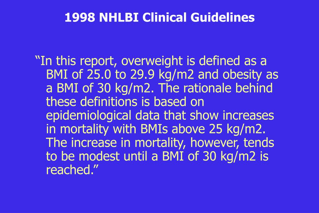 1998 NHLBI Clinical Guidelines