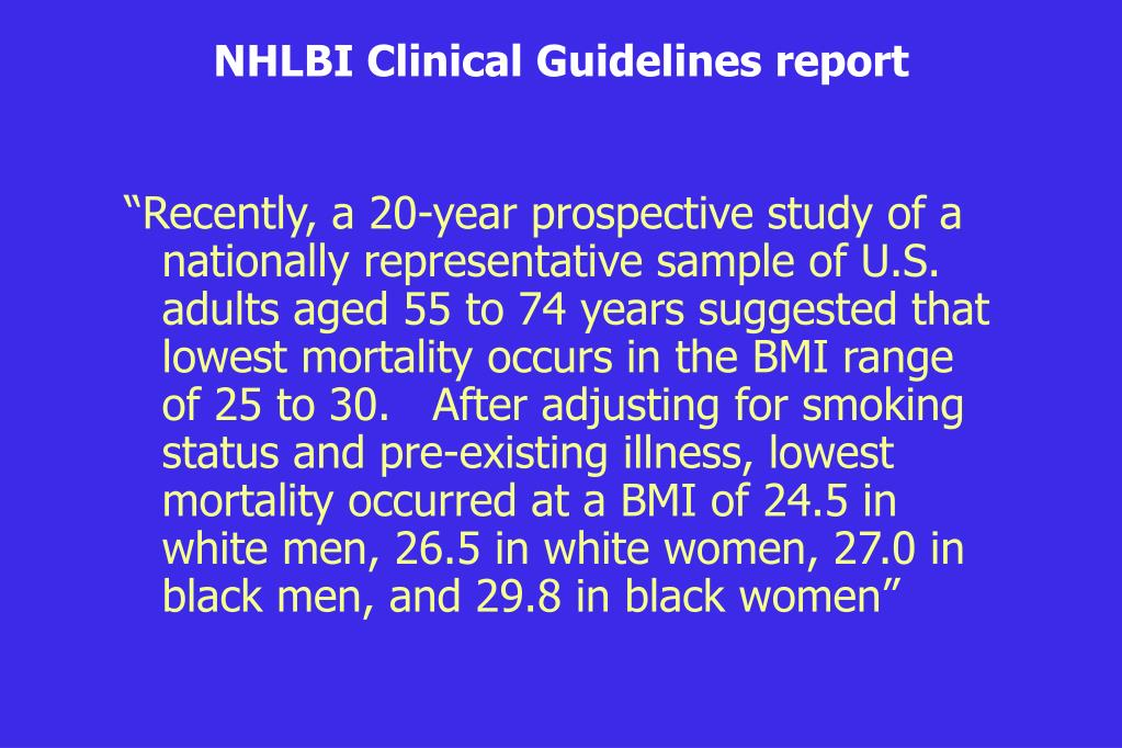 NHLBI Clinical Guidelines report