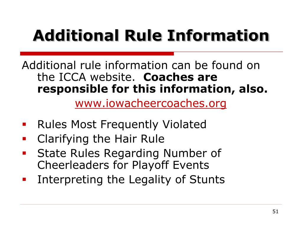 Additional Rule Information