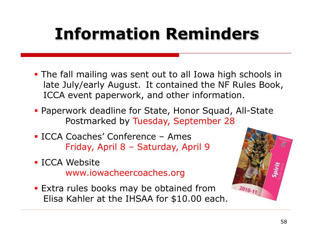 Information Reminders