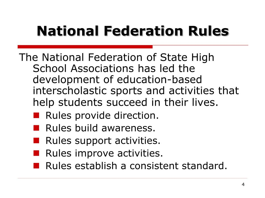 National Federation Rules