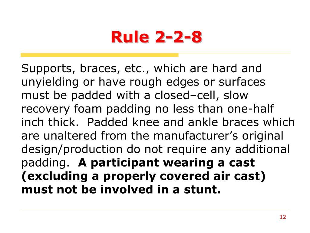 Rule 2-2-8