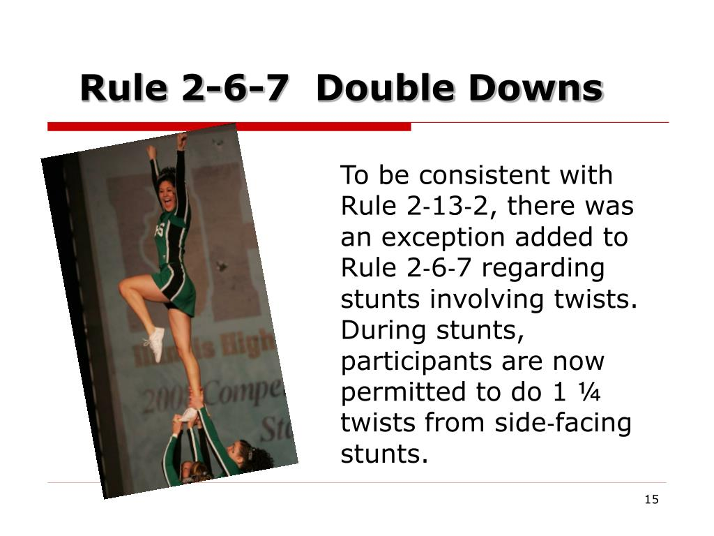 Rule 2-6-7  Double Downs