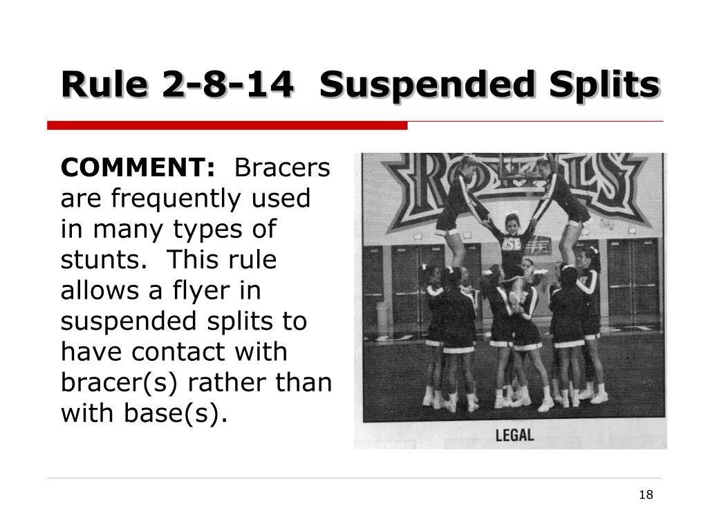 Rule 2-8-14  Suspended Splits