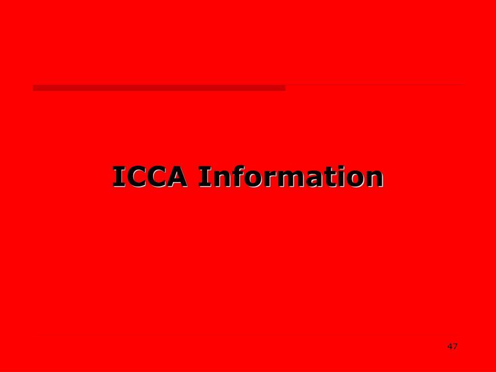 ICCA Information