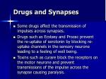 drugs and synapses