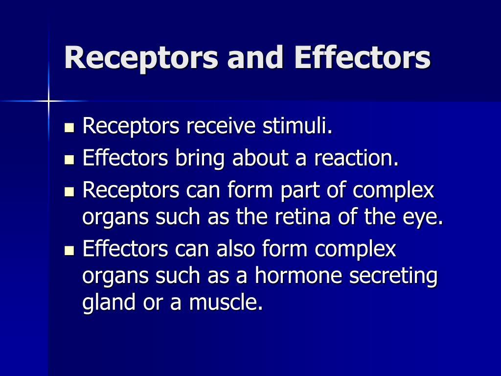 Receptors and Effectors