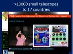13000 small telescopes to 17 countries