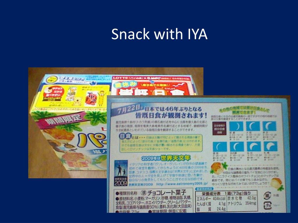 Snack with IYA