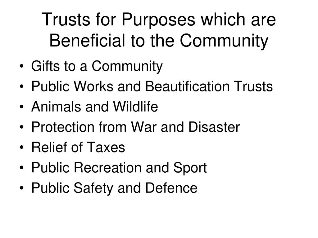 """charitable purpose trusts Jersey non-charitable purpose trusts traditionally, the hallmark of a trust is that its terms require the trust assets to be utilised for the benefit of beneficiaries, whether they be individuals or legal persons however, under the trusts (jersey) law 1984 (the """"trust law""""), it is possible to establish trusts for."""